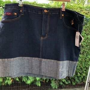 Baby Phat Mini Jean Skirt